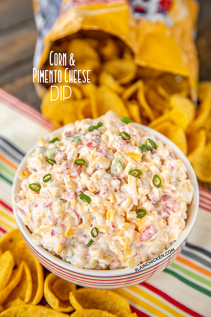 Dip in a bowl with corn chips