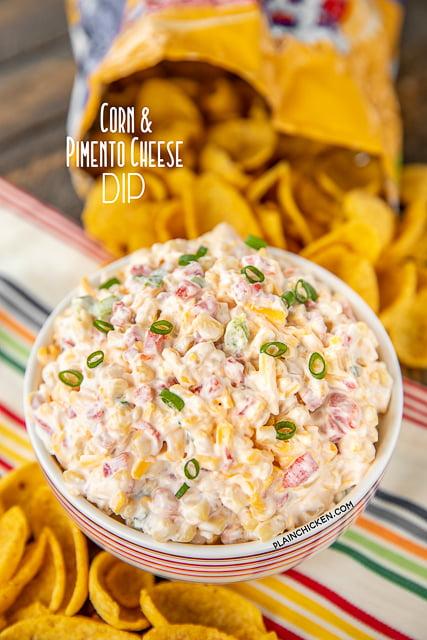 bowl of corn dip