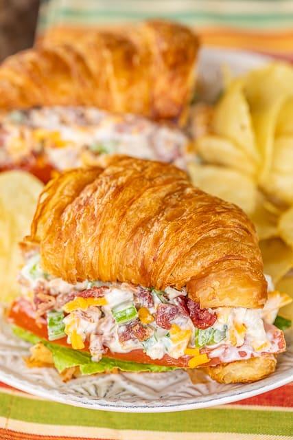 turkey salad croissant