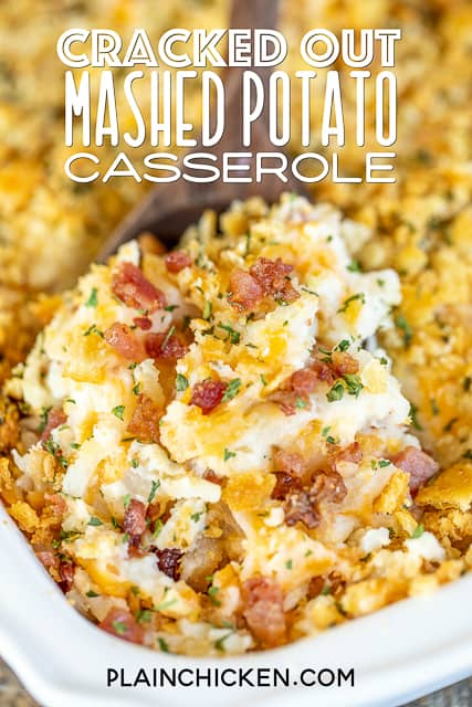 spoonful of mashed potato casserole