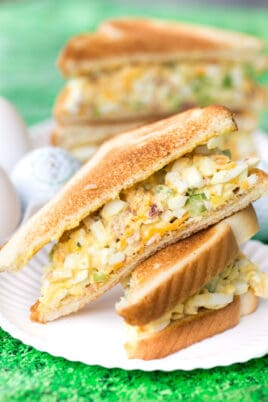 toasted egg salad sandwich