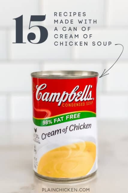 cream of chicken soup recipes