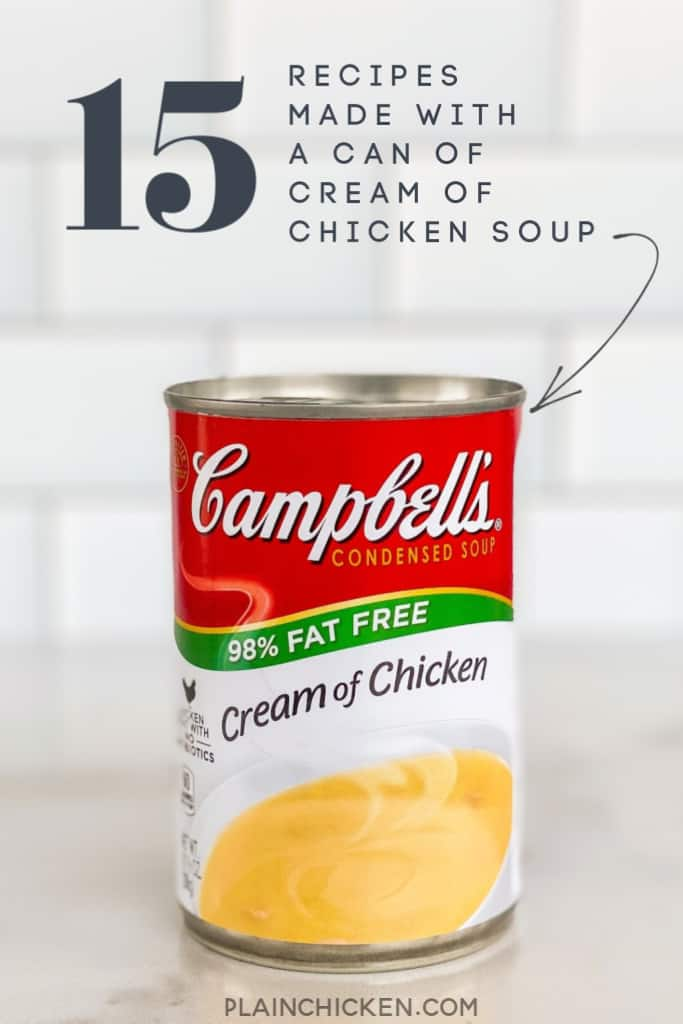 Recipes Made With A Can Of Cream Of Chicken Soup Plain Chicken