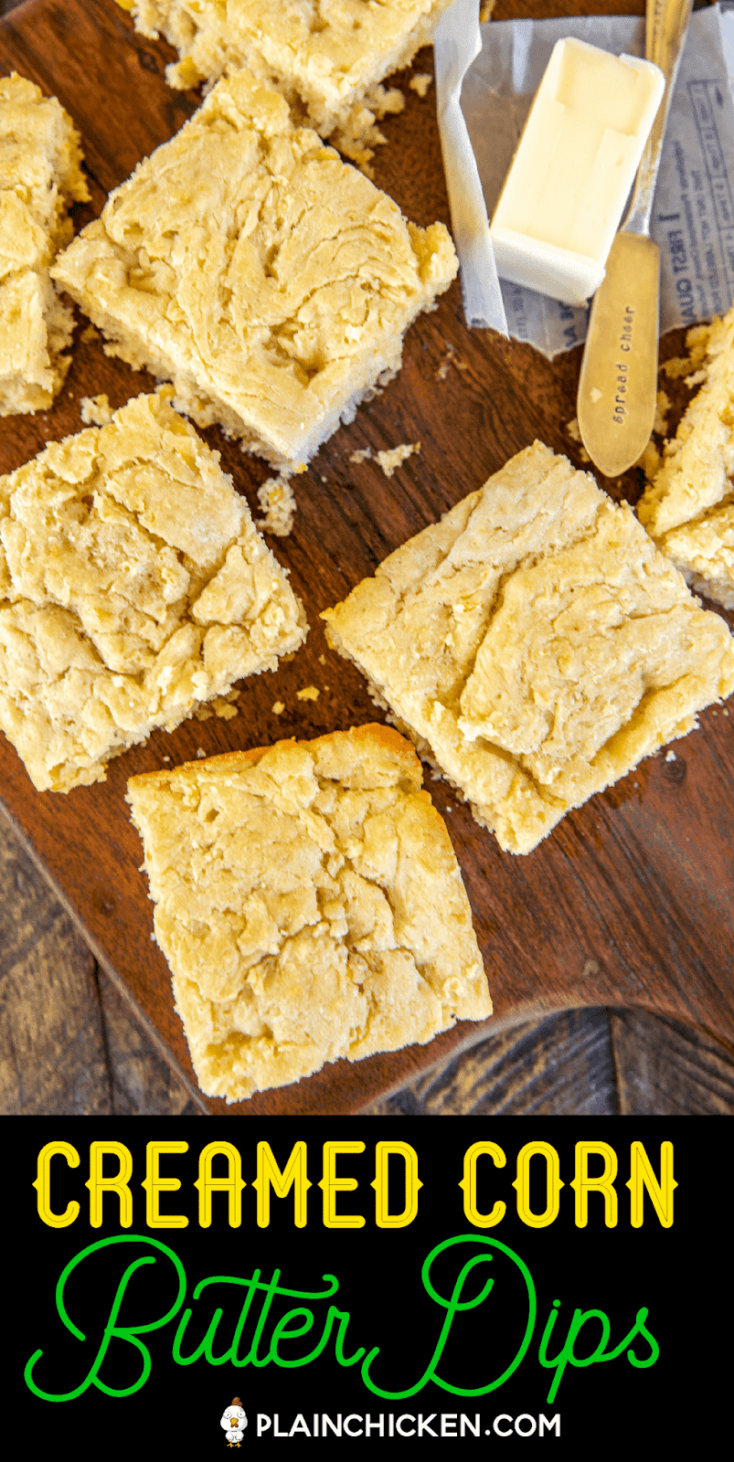 cornbread on a platter