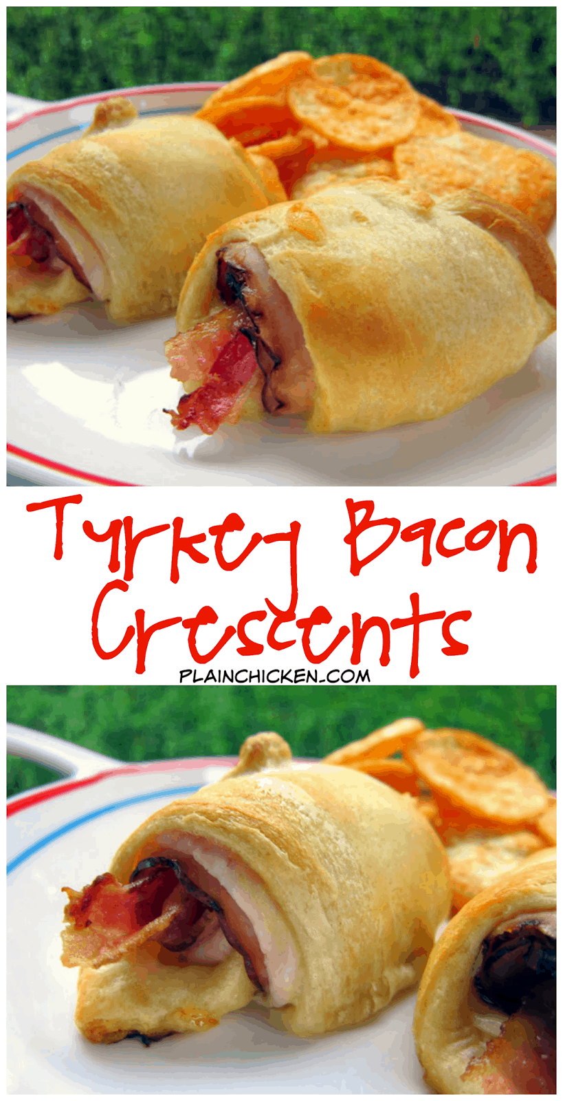 Turkey Bacon Crescents recipe - super quick hot sandwiches - only 5 ingredients - SO good! Quick weeknight meal that is ready in 15 minutes. SOOO much better than an ordinary cold cut sandwich.