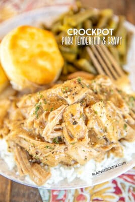 crockpot pork tenderloin & gravy