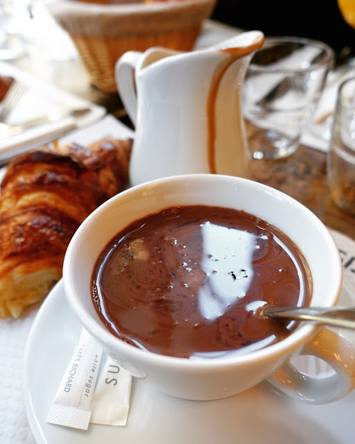 Breakfast in Paris - Hot Chocolate and Croissants