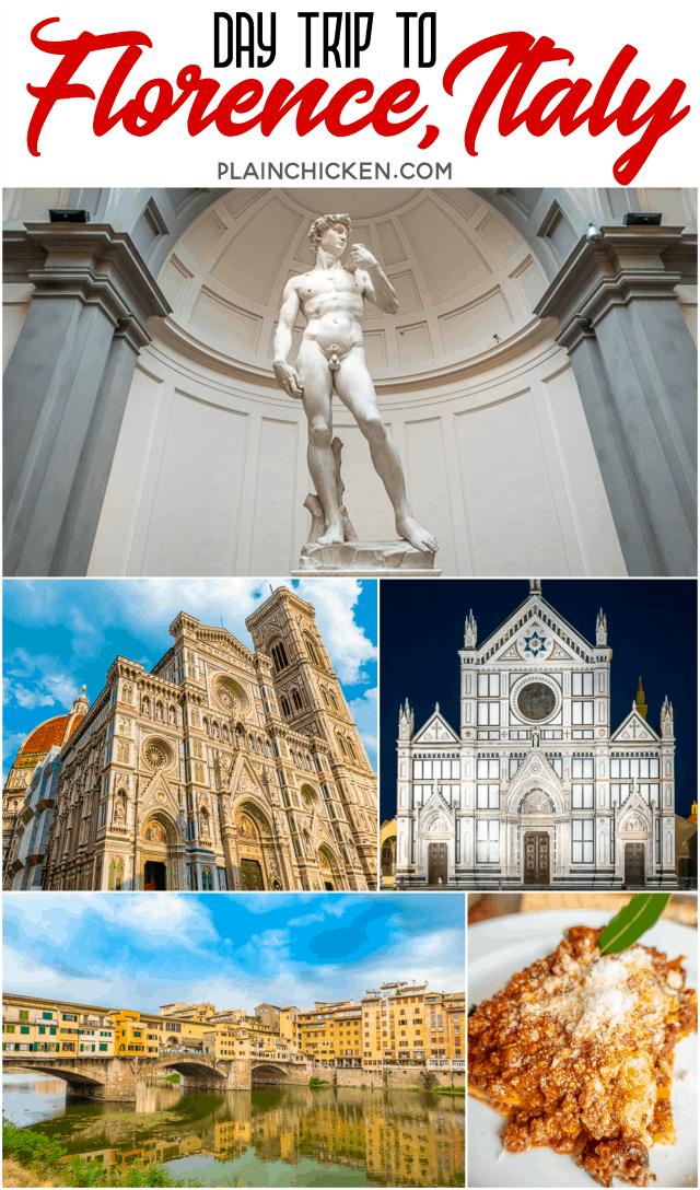 Day Trip to Florence Italy with Adventures by Disney - tips on how to skip the line to see Michelangelo's David and all the must see sights of this beautiful city. PLUS where to get the BEST lasagna on the planet and an amazing steak florentine! #italy #europe #travel