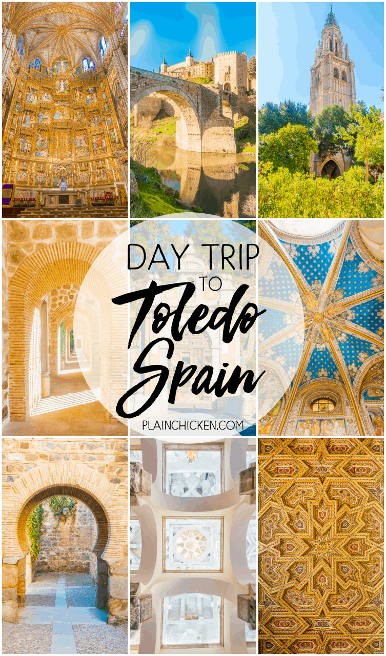 Walking Tour of Toledo Spain {Day Trip from Madrid} - Toledo is a MUST on your trip to Spain. Such a picturesque town. It is totally walkable and doable on your own. Just a short train ride from Madrid.
