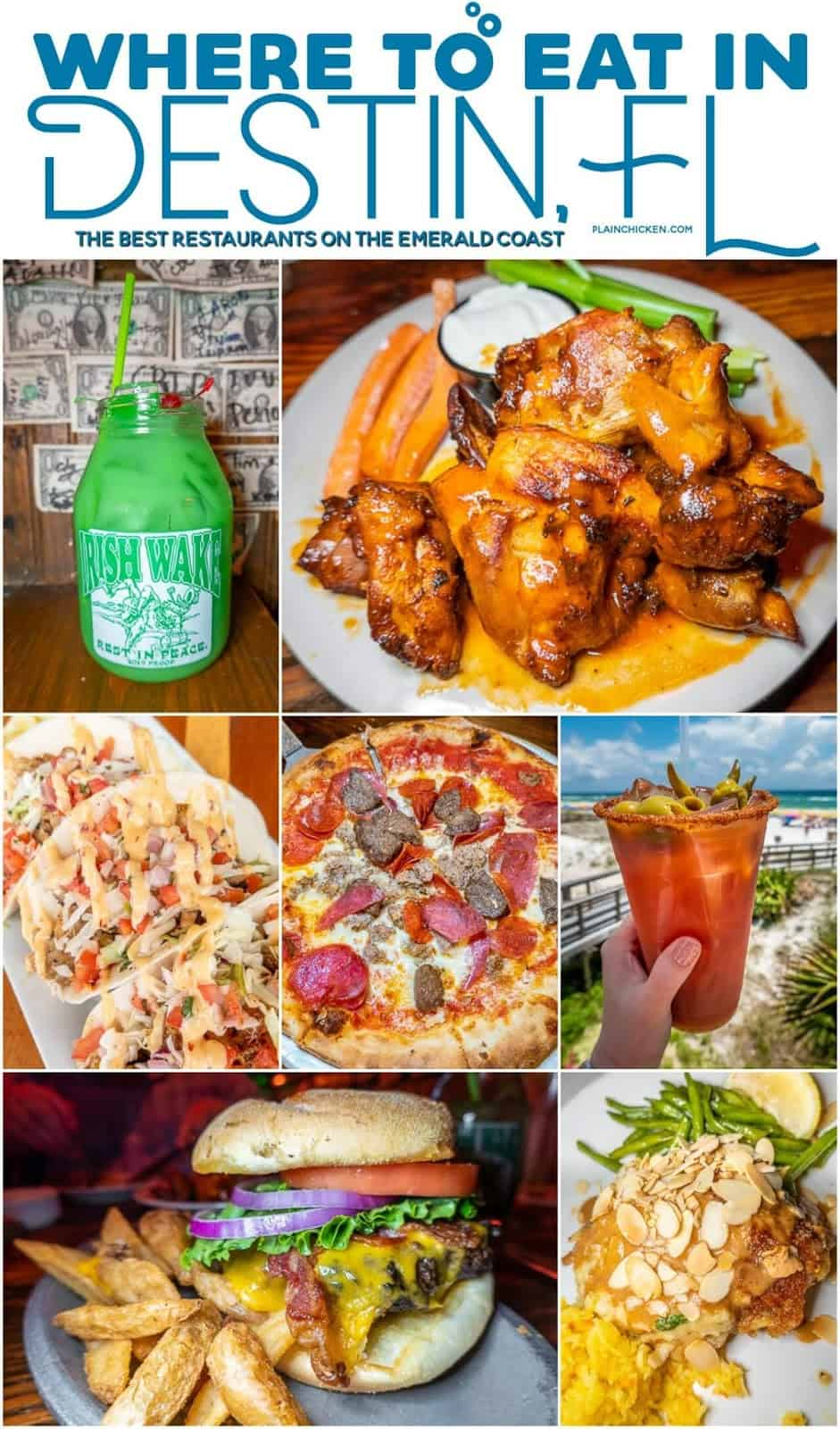 collage of food photos