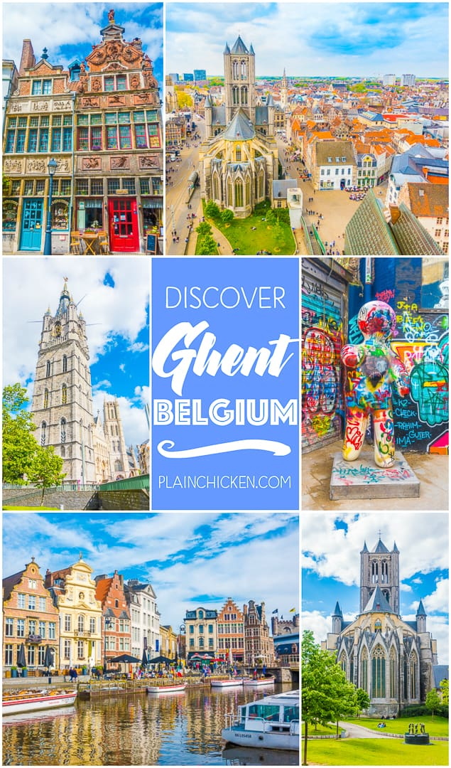 Discover Ghent, Belgium - picturesque town 35 minutes from Brussels. A great day trip! The canals, castles, graffiti street and don't miss the view from the Belfry!