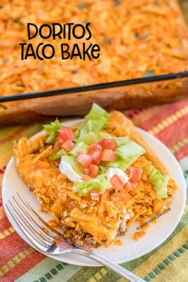 taco casserole on a plate