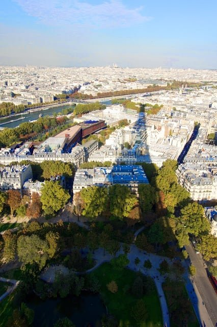 View from top of the Eiffel Tower