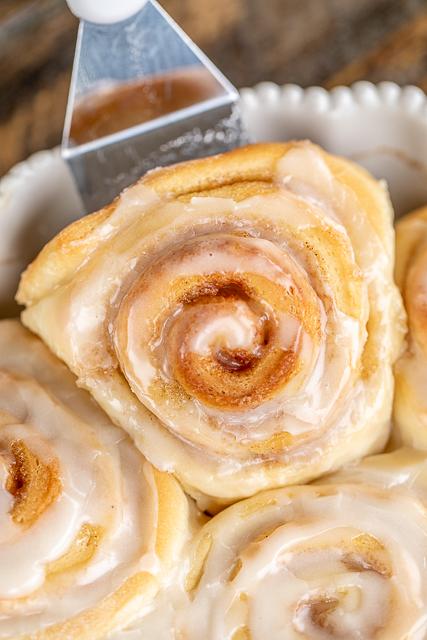 glazed cinnamon roll