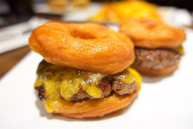 Donut Burger Sliders from The Original in Portland, OR