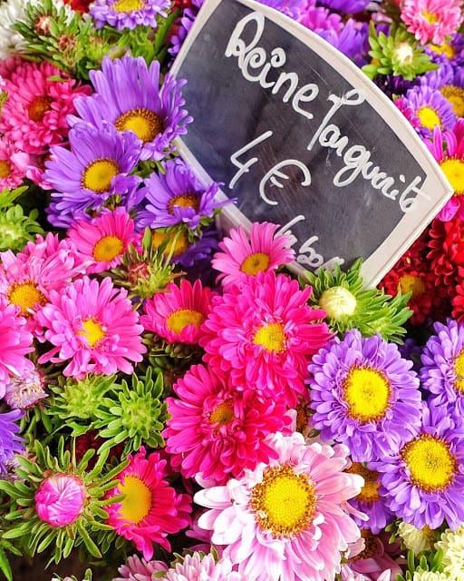 Flowers on the street of Paris