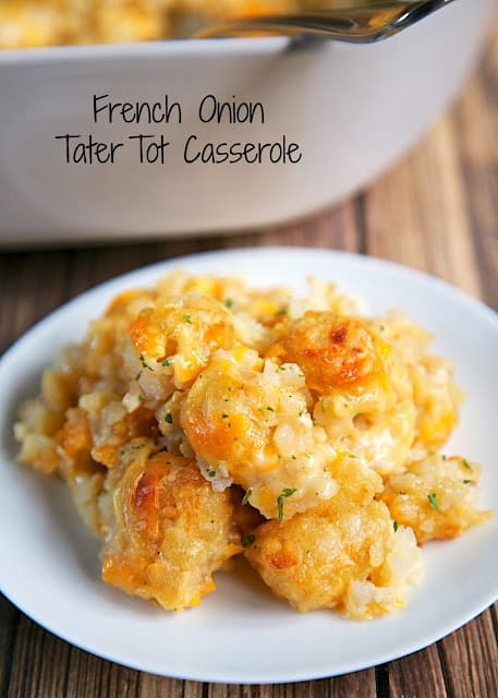 tater tot casserole on a plate