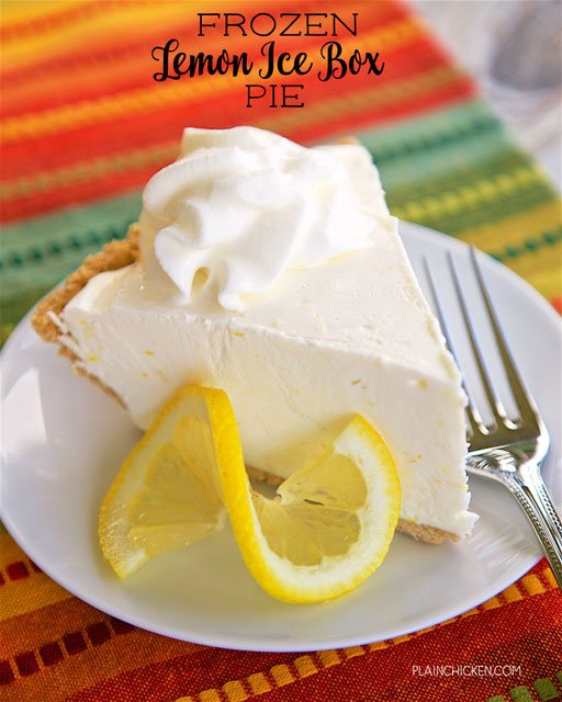 slice of lemon ice cream pie