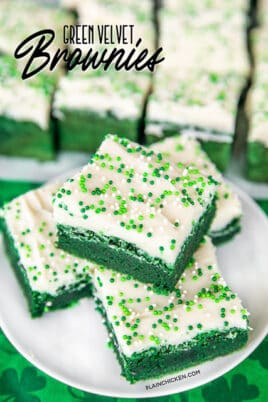 green velvet brownies