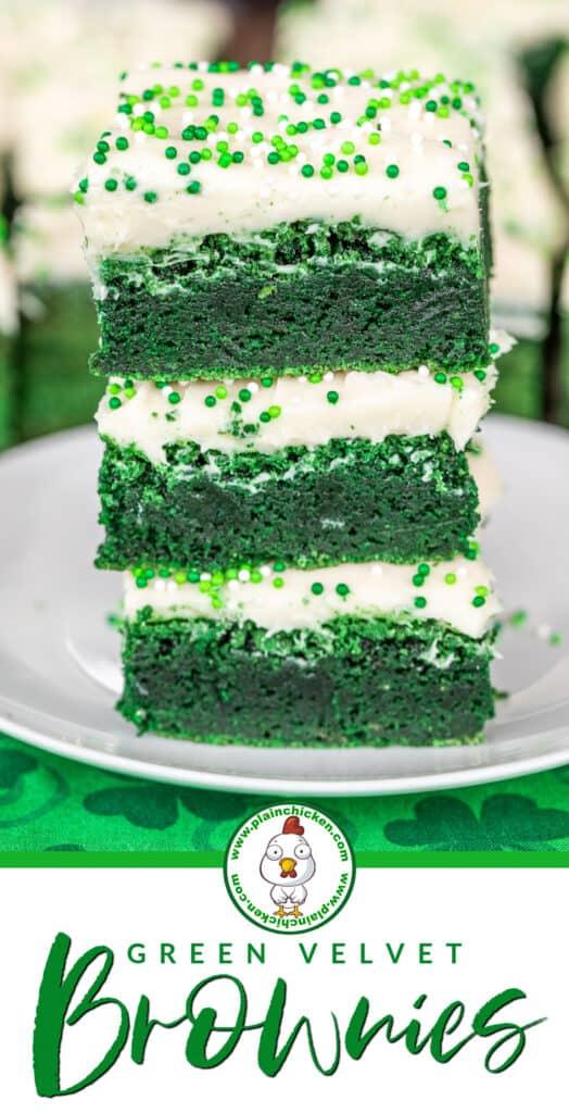green velvet brownies