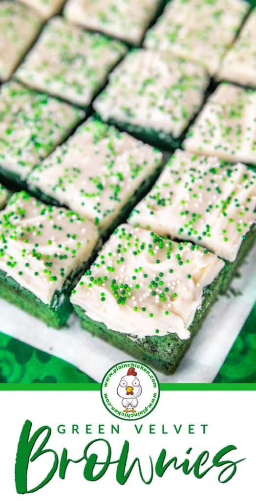 Green Velvet Brownies on platter