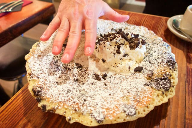 Giant Oreo Pancake at the Griddle Cafe in Hollywood, CA - get one - they are HUGE!