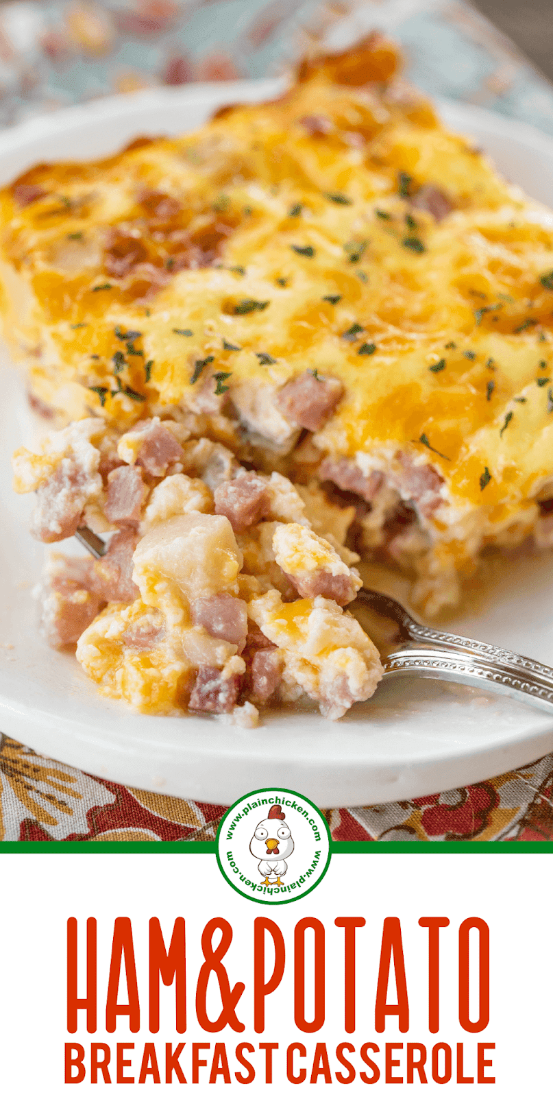 slice of ham breakfast casserole