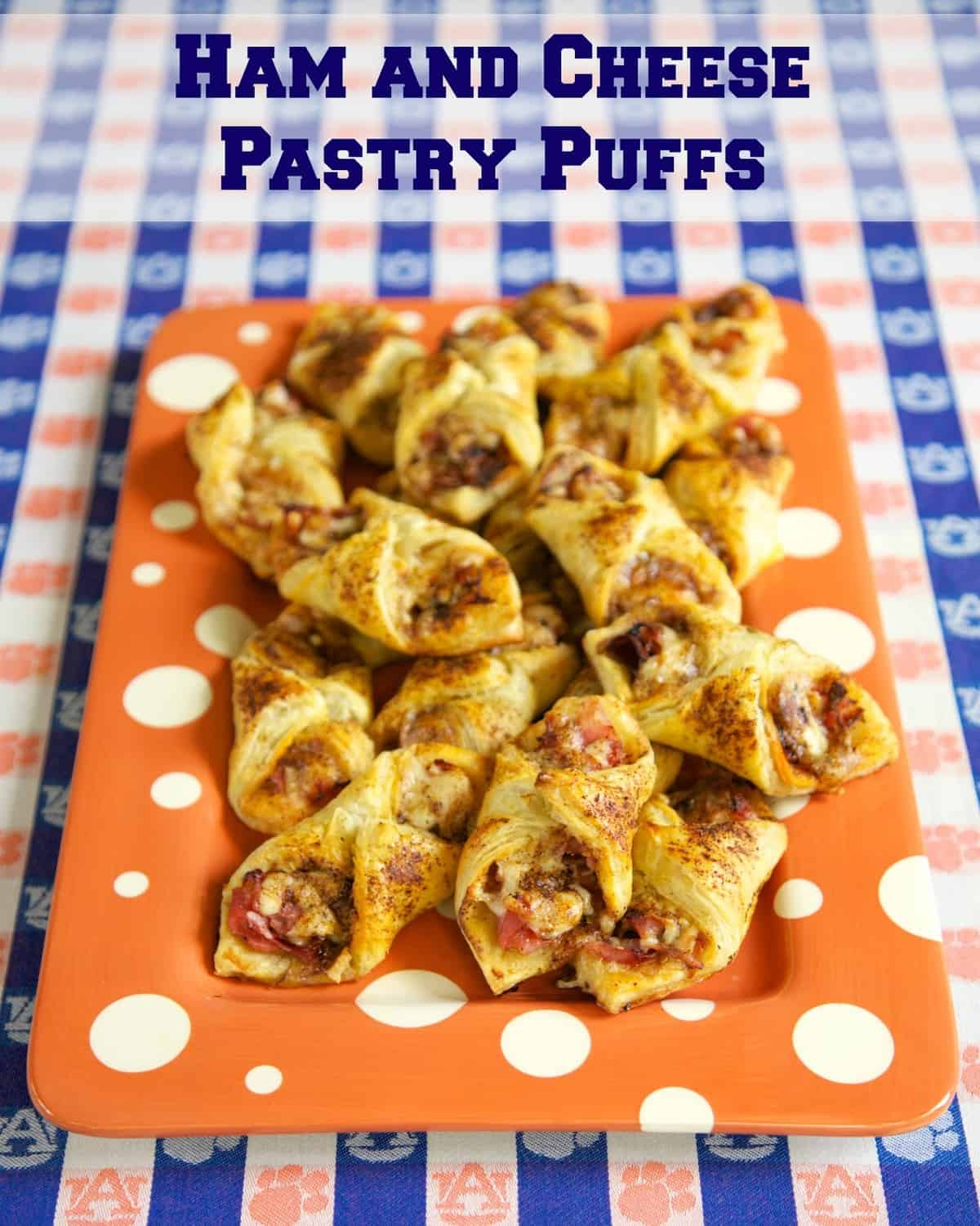Ham and Cheese Pastry Puffs ~ These are easy to make and taste amazing - ham, cheese, and seasoning wrapped in puff pastry - can assemble and freeze for later. These are SO good. Great for parties or a quick lunch or dinner.