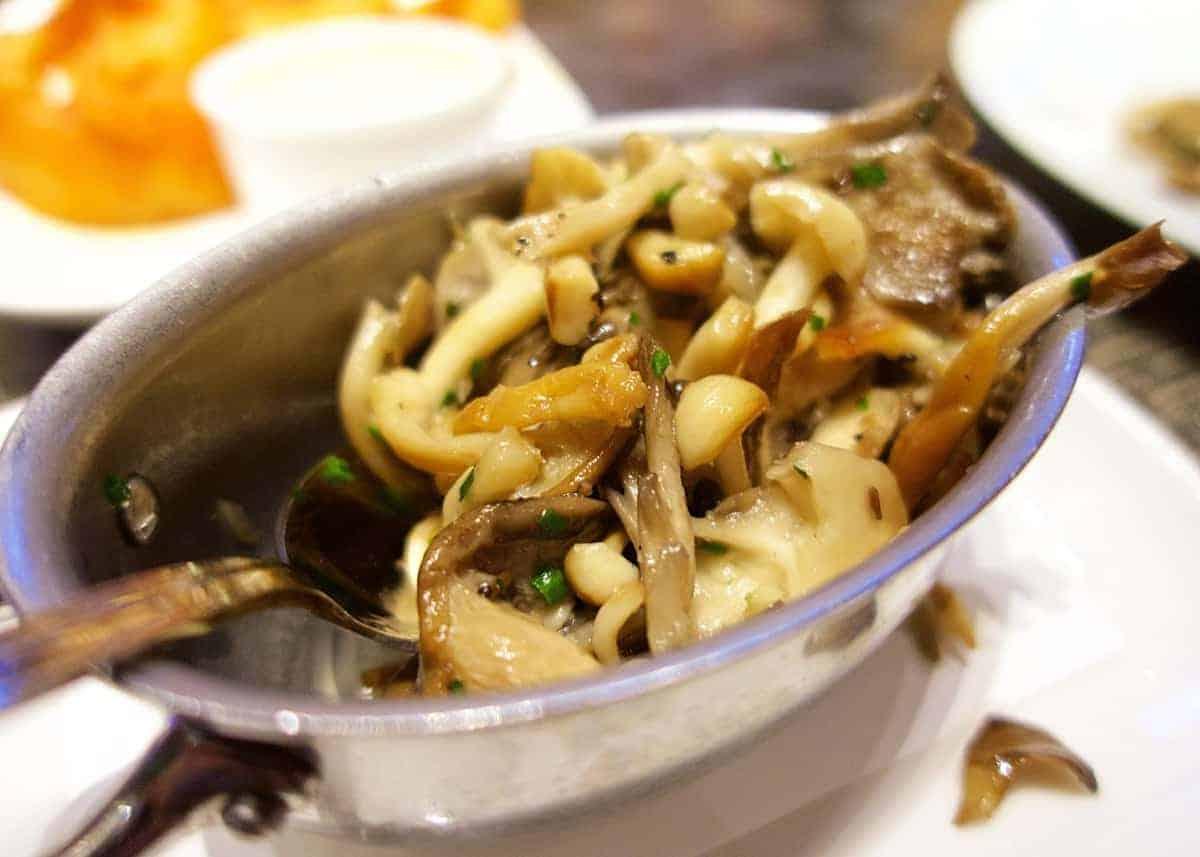 Tom Colicchio's Heritage Steak - roasted mushrooms