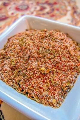creole seasoning in dish