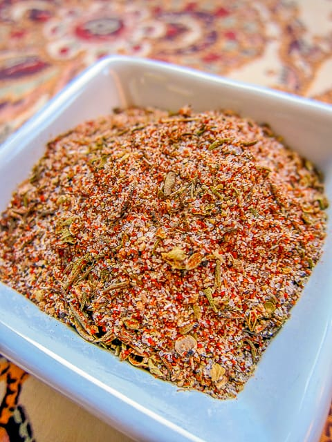 creole seasoning in dish