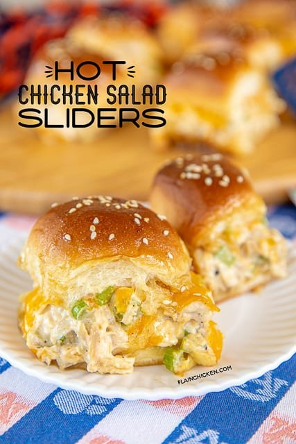 chicken salad sandwiches on a plate