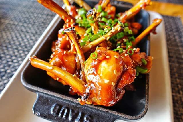 Wings from Trader Vic's at the Beverly Hilton - Los Angeles, CA - great food and great for celebrity sightings!