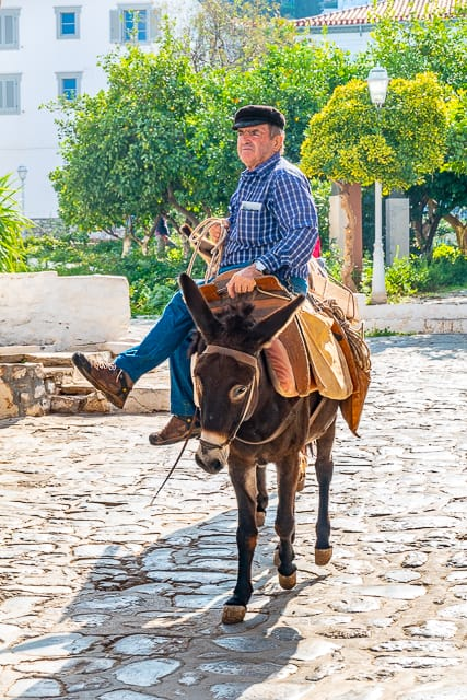 No cars are allowed in Hydra - the only modes of transportation are bikes and donkeys
