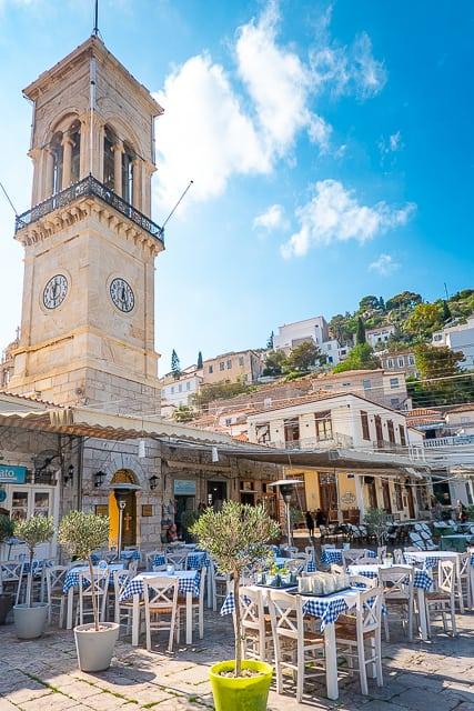 Clock Tower Hydra Greece