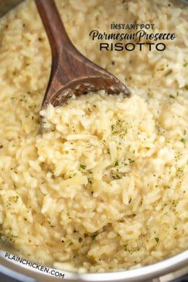 instant pot parmesan prosecco risotto