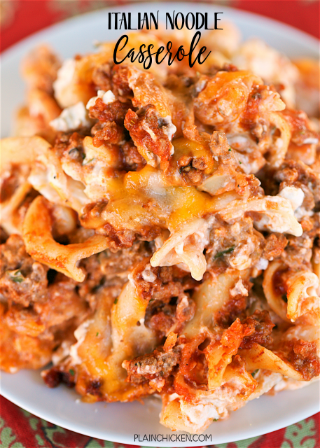 plate of italian pasta