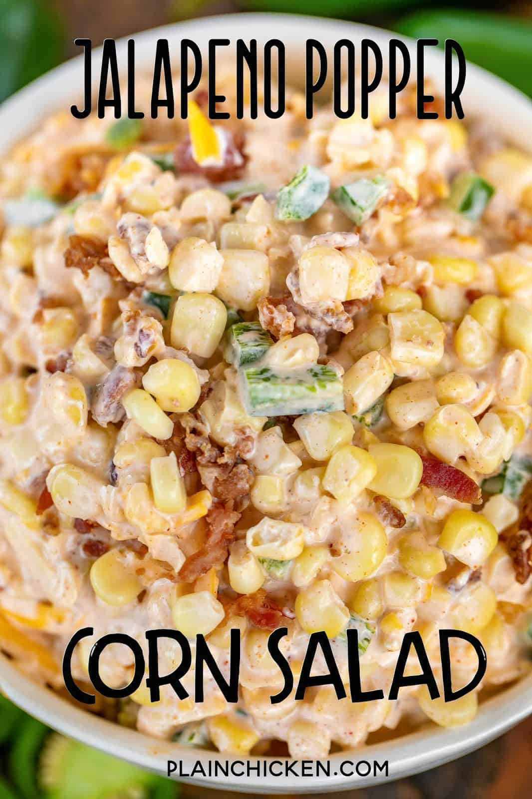 corn salad in a bowl