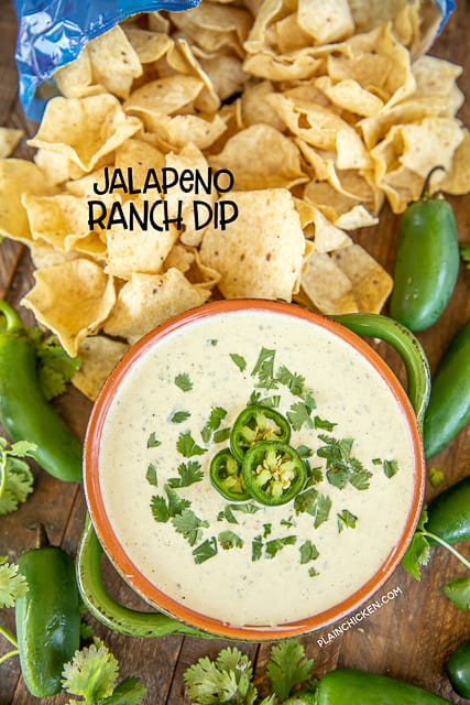 jalapeno ranch dip with chips