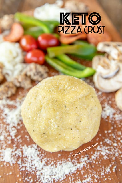 ball of keto pizza dough