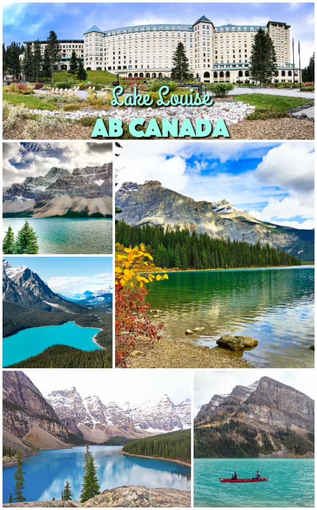 Lake Louise, AB Canada - where to stay and driving trips to the best lakes in the area.
