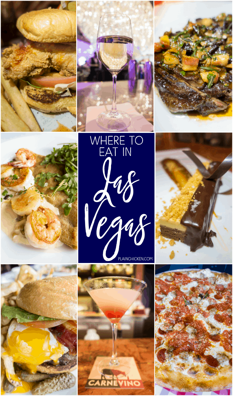 Where to eat in Las Vegas - some of the best food in the world is in Las Vegas! Great list of places to eat on and off The Strip!