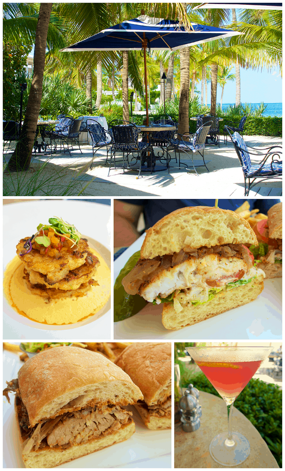Latitudes Restaurant Sunset Key - Key West, FL - dine in paradise! Located on Sunset Key, a private island just a ferry boat ride from Key West.