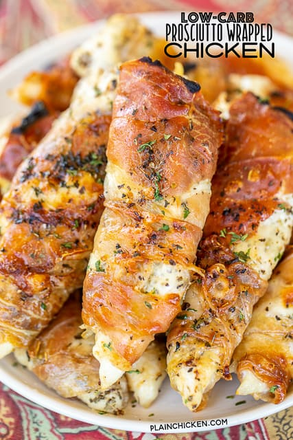 Low Carb Prosciutto Wrapped Chicken Plain Chicken