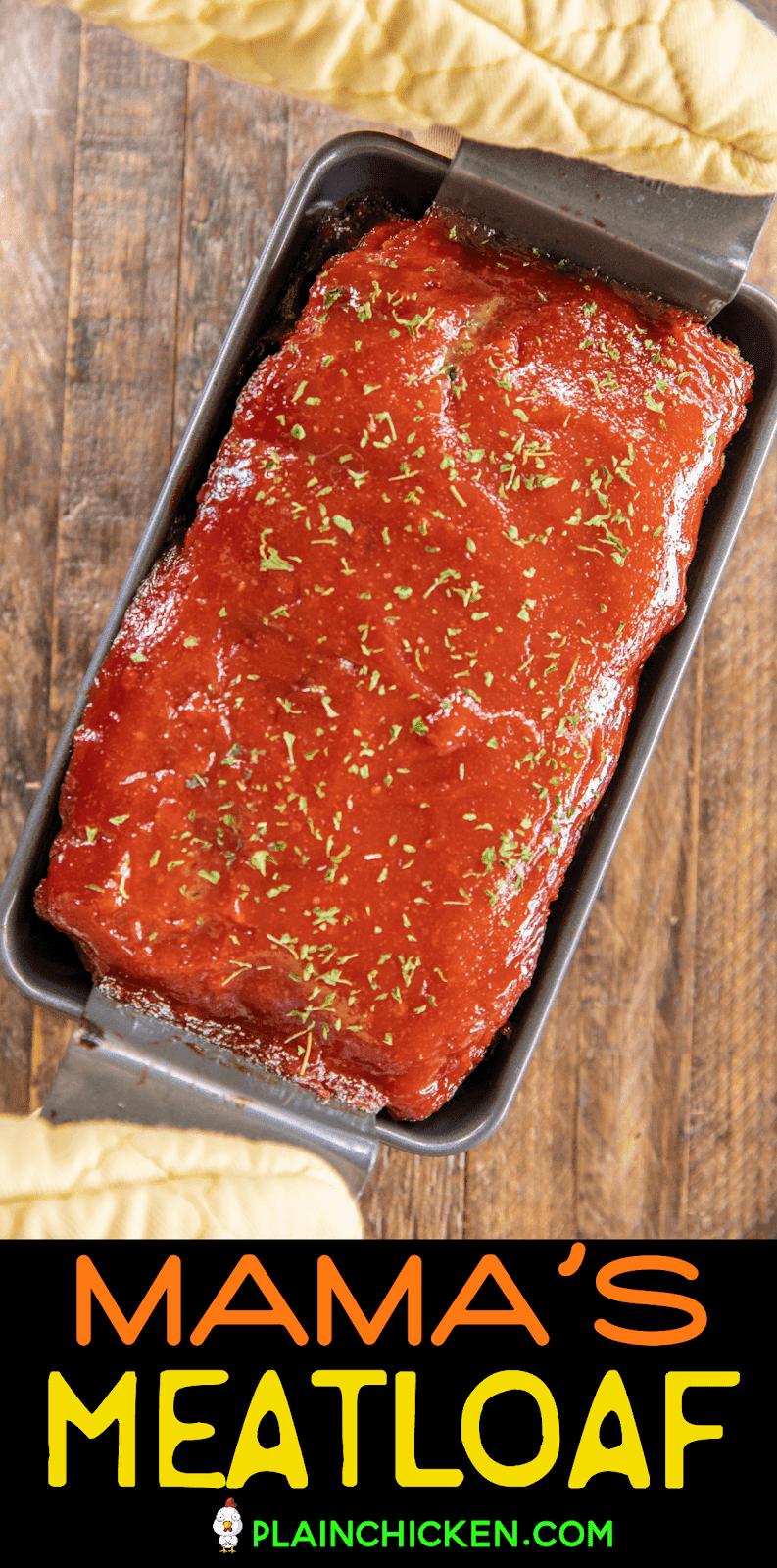 meatloaf in baking pan