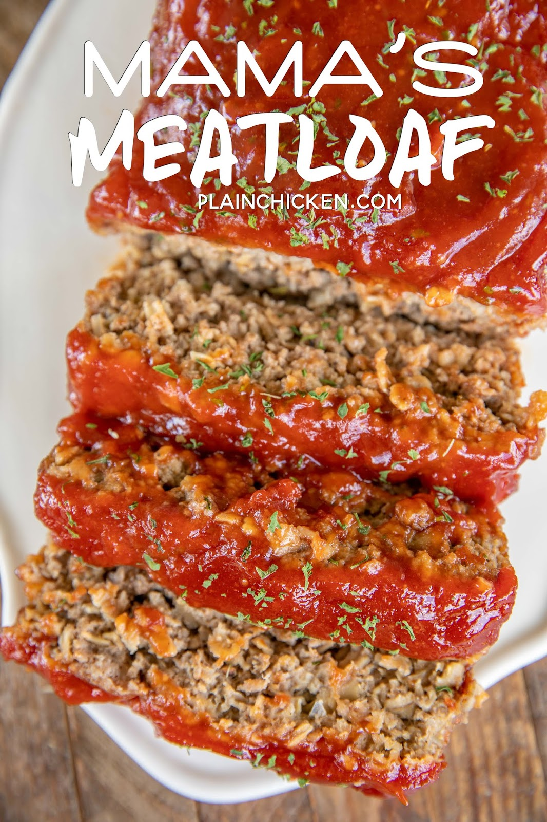 meatloaf sliced on a platter