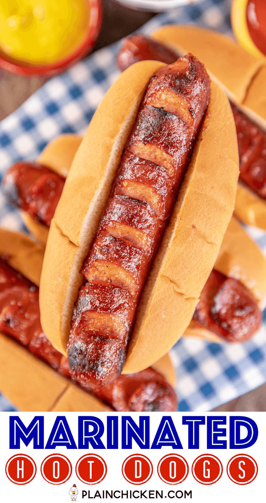 grilled hot dog on a platter