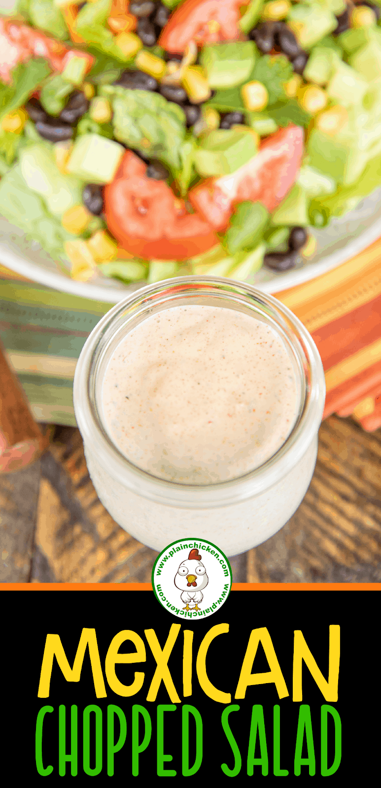 jar of homemade salad dressing