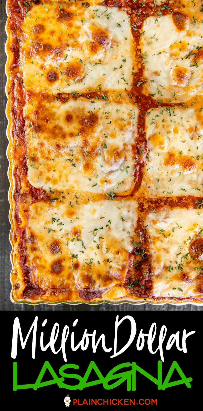 lasagna in a baking dish