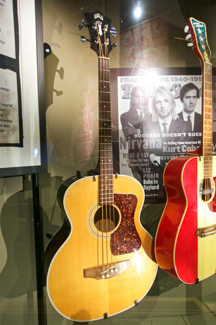 Nirvana guitars at the EMP Museum in Seattle, WA